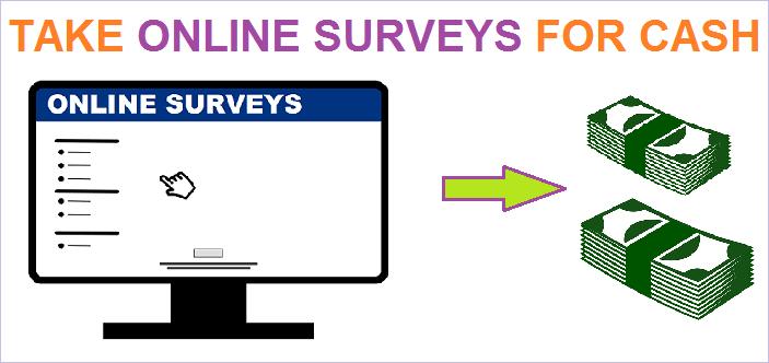 Take online surveys for cash
