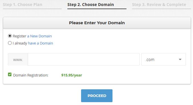 siteground hosting choose domain