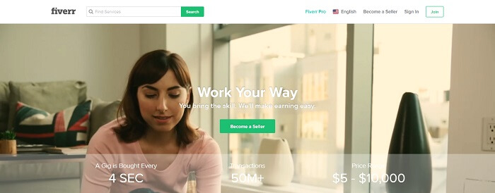Fiverr - Freelance Earning Site
