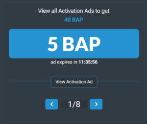 BAP activation ads