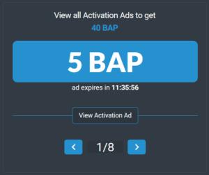 BAP activation ads