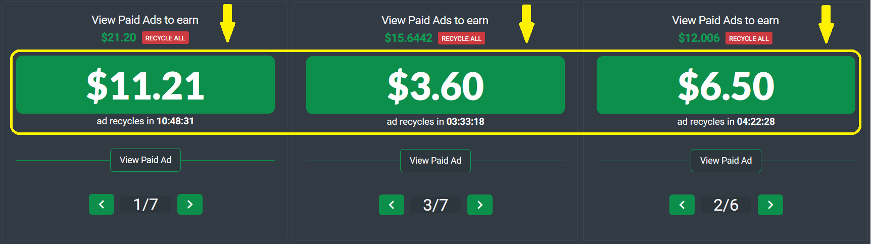 Big Paid Ads on PtcShare