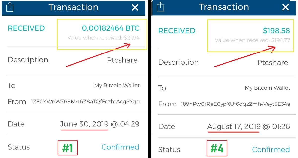 PtcShare Payment Proofs