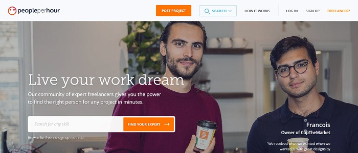 PeoplePerHour Freelance site